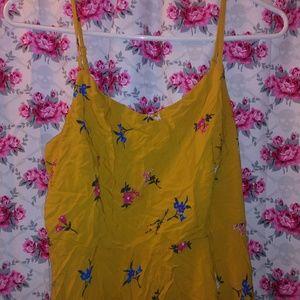 Old navy yellow flower dress